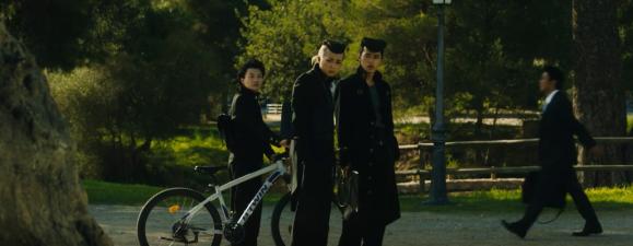 Josuke, koichi and Okuyasu saying yo to Angelo.png