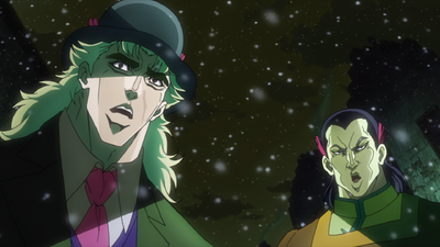 Speedwagon and Kempo Fighter Surprised.png