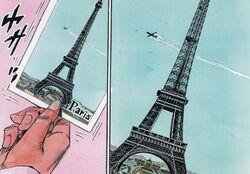 Rohan at the Louvre - Eiffel Tower.jpg