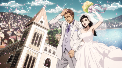 Giorno's Mom Wedding Anime.png