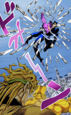 Jotaro surrounded by knives.png