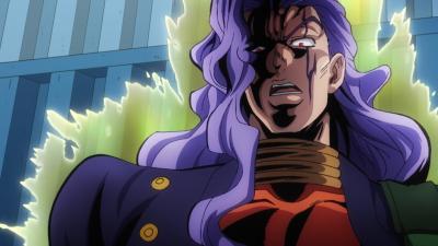 Akira threatening Josuke.png