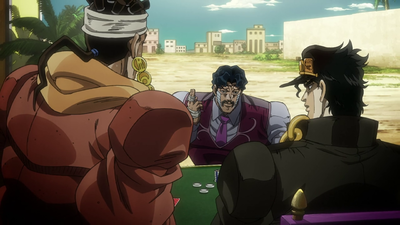 Jotaro takes on D'Arby in a game of poker..png