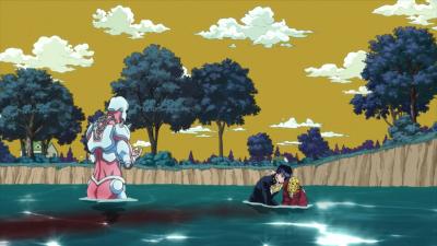 Josuke helps Joseph in water.png