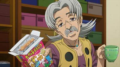Mukade Shopkeeper offering biscuits.png