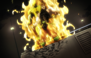 DIO on top of road roller.png