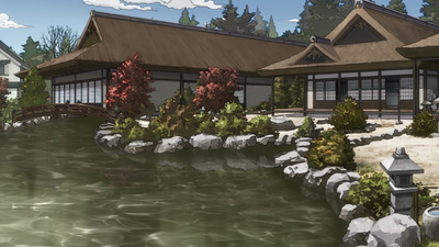 Kujo mansion anime gardens 02.png