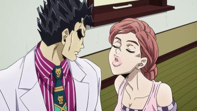 Kira glares at Shinobu's kiss.png