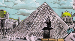 Rohan at the Louvre - Louvre Pyramid.png