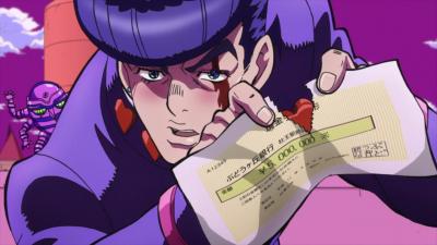 Josuke tears the check.png