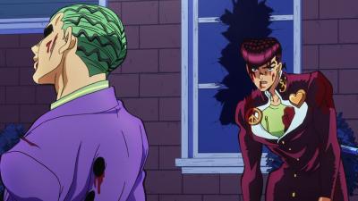 Josuke and Kira stand off.png