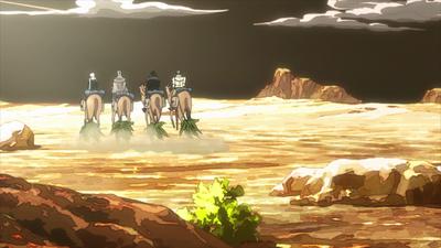 Arabian desert camels anime.png