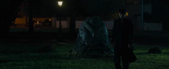 Josuke turns Angelo into a rock.png