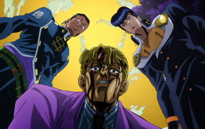 Kira confronted by Josuke.png
