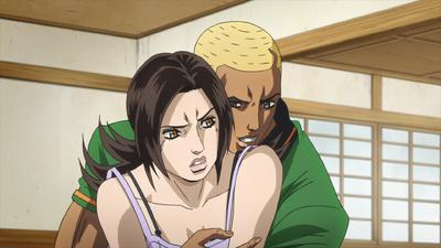 TSKR2 Gunpei forcefully hugging Naoko.png
