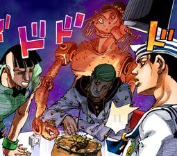 Josuke sees speed king.png