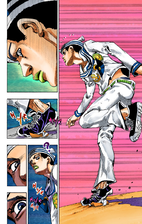 Josuke gets attacked by Paper Moon King.png